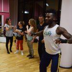 jogaki EMAJINARIUM Free Spirit spectacle vivant costumé et dansant body painting paris Fraise au Loup theatre danse répétition de danse paris
