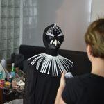 EMAJINARIUM Free Spirit spectacle vivant costumé et dansant body painting paris Fraise au Loup theatre danse masque hibou