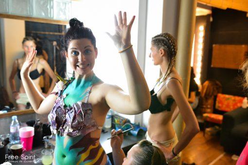 body painting free spirit Emajinarium spectacle show live