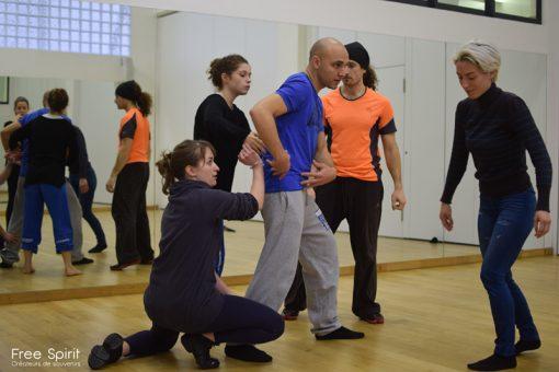 danseurs salle de répétition Paris emajinarium spectacle