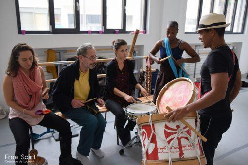 Batucada Maracatu oju oba Free Spirit Emajinarium groupe de musique brésilienne paris