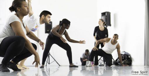 Emajinarium Free Spirit Guylia coulisses spectacle de danse
