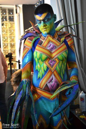 Emajinarium Free Spirit Spectacle vivant costumes danse paris tournée capoeira