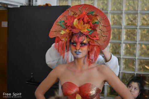 Emajinarium répétition de danse jazz contemporain coiffe headpiece spectacle vivant Free Spirit
