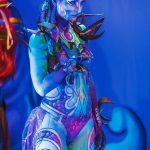 EMAJINARIUM spectacle vivant costumes danse par Free Spirit Fraise au Loup body painting theatre de la madeleine decors