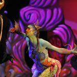 EMAJINARIUM Free Spirit Spectacle vivant costumé et dansant live show combining art performance theatre dance paris theatre de la madeleine masque hibou