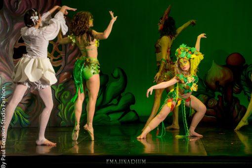 Mil et Une spectacle pour les enfants paris EMAJINARIUM par Free Spirit Spectacle de danse avec costume theatre de la Madeleine paris décors Fraise au Loup costume